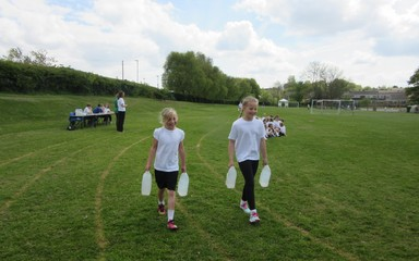 Reception & Year 5 Water Walk Challenge