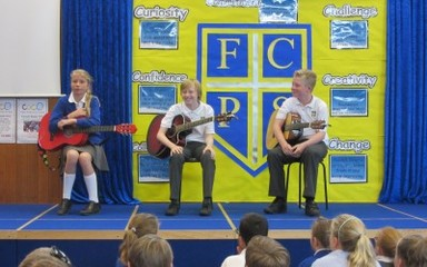 Year 6 Guitar- Musical Assembly