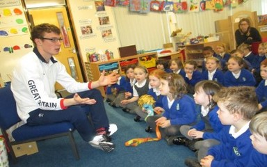 Matt Wylie, Paralympian Swimmer Visits Fellside