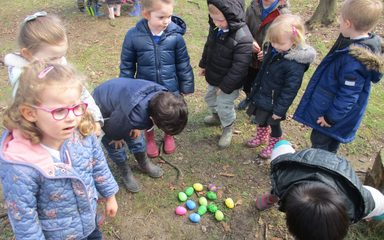Easter egg hunt in Nursery