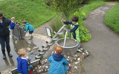 Morning children visit Washington Wetlands Centre