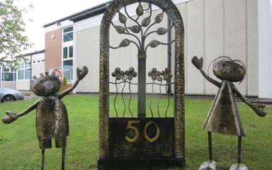 Our Wonderful New 50th Birthday Sculpture