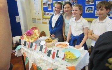 Year 6 Entrepreneurs and their International Cafe
