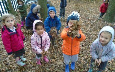 Nursery enjoy an Autumn walk