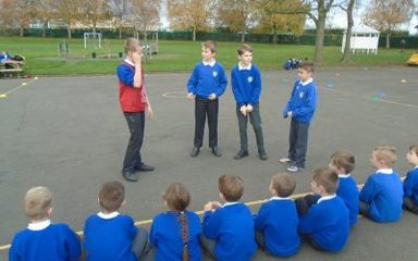 Year 5 become Playground Leaders
