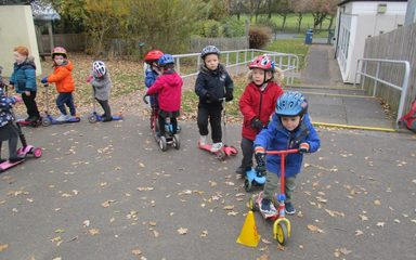 Scooter Skills in Nursery