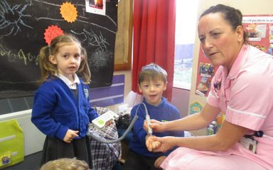 Nurse Wendy visits Nursery