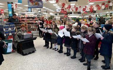 Choir Spreading Christmas Cheer