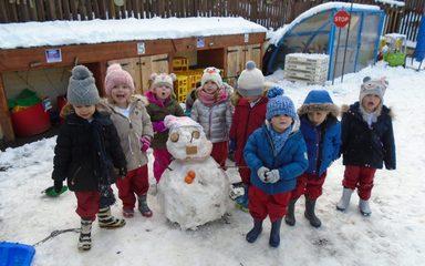 Nursery enjoy the snow!