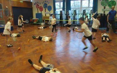Tennis Skills in Year 3