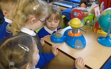Nursery learn about space and the fate of the dinosaurs