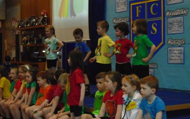 Year One's 'Five-a-Day' Class Assembly