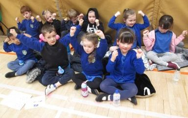 Reception Class take part in the Multi-Sports Festival
