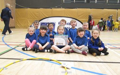 Reception class take part in Multi-Sports Festival