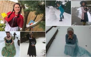 Storybook Characters Spotted In The Snow!
