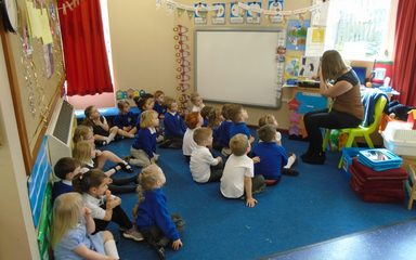 Our visitors in Nursery this week