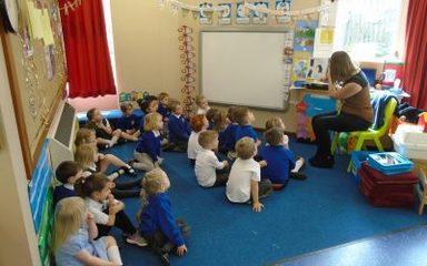 Our visitors in Nursery this week