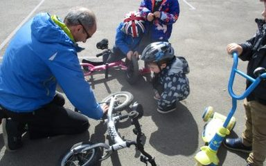 Bike It Day in Nursery