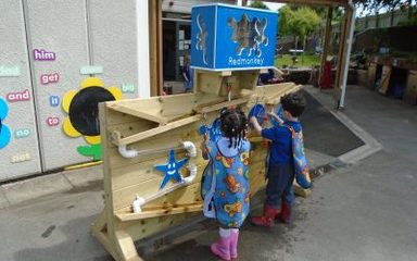 Early Years get a new water wall