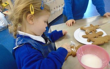 Baking and creating in Nursery