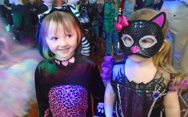 Nursery enjoy the Halloween disco
