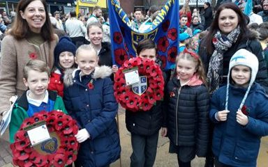 Remembrance Day Parade in Whickham: Sunday 11th November 2018