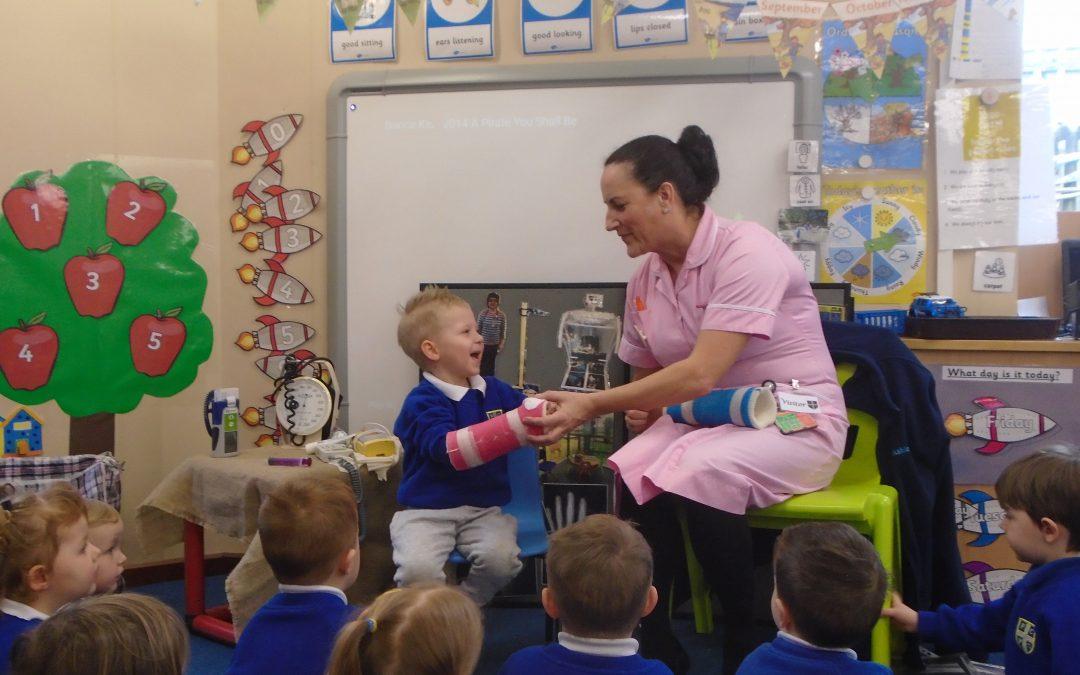 Nurse Wendy and Nurse Ashley visit Nursery