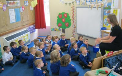 Maria from Gateshead Library visits Nursery
