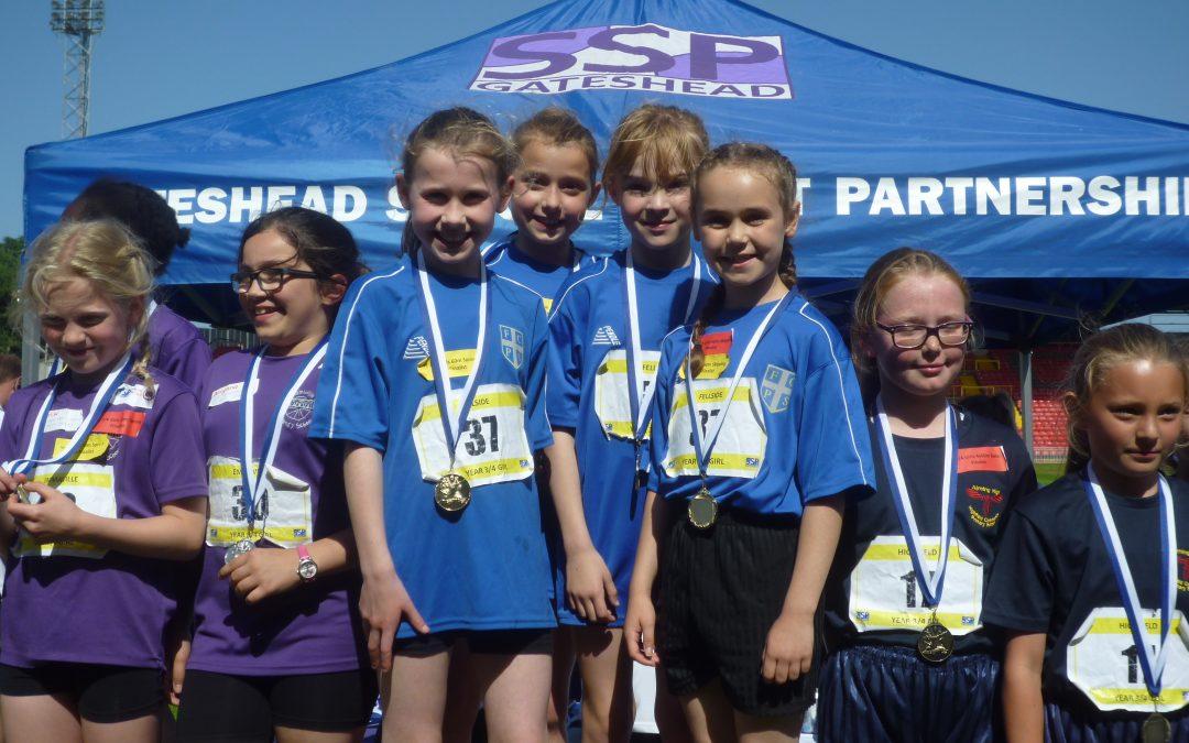 School Sports Partnership Primary Athletics Festival at Gateshead Stadium