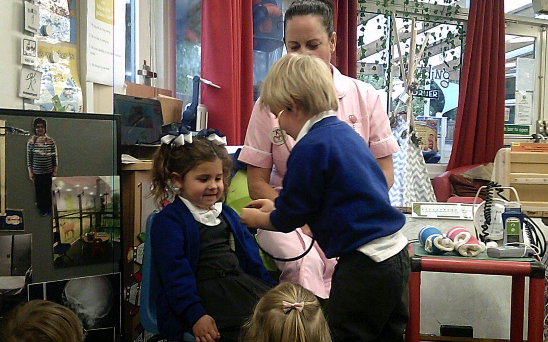 Nurse Wendy visits Nursery
